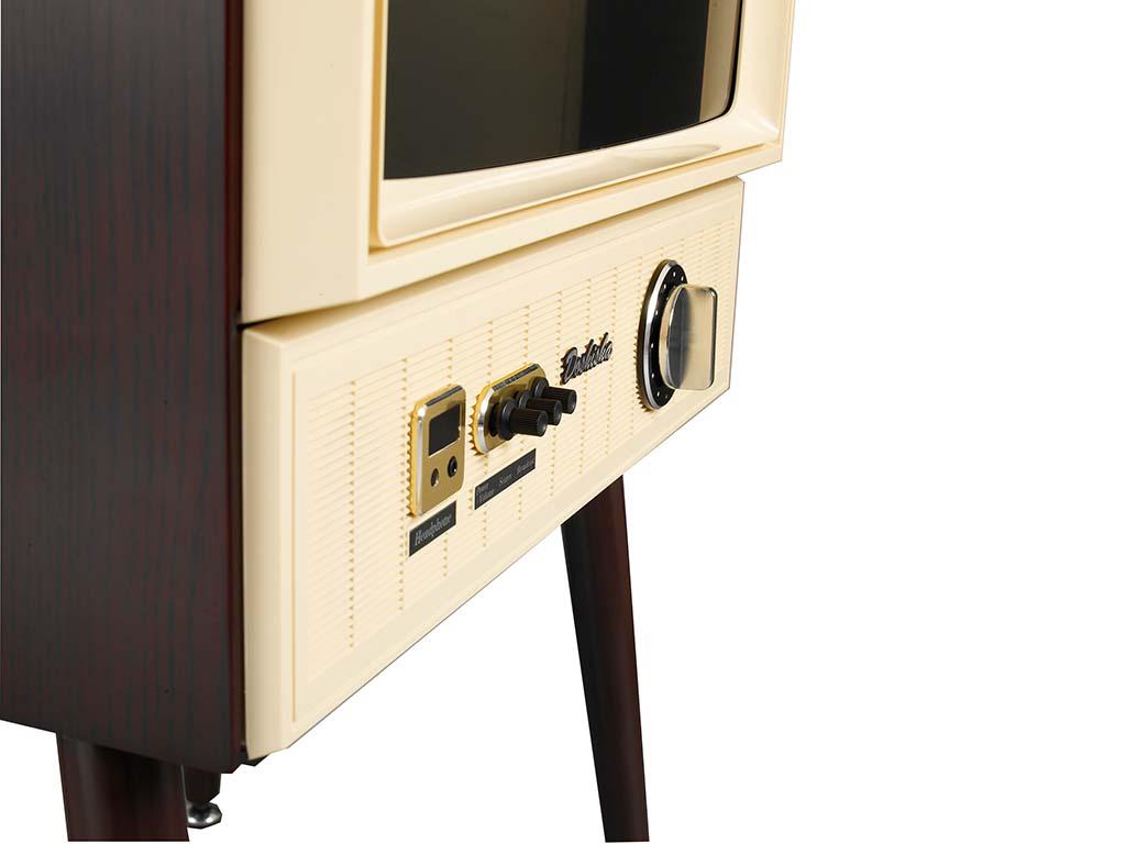 ダイヤルでチャンネルや音量を操作できる