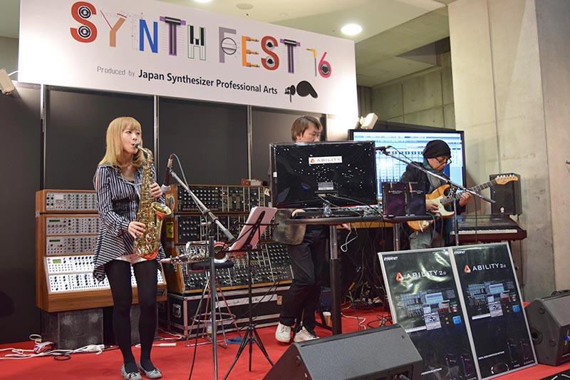 SYNTH FESTステージで行なわれていたライブイベント