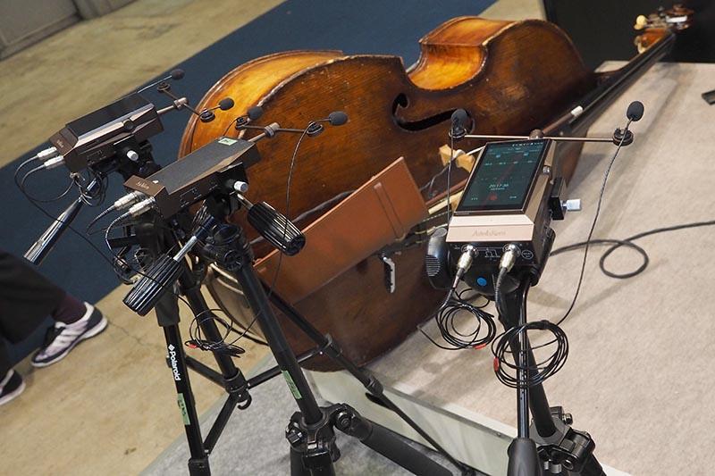 アユートのブースでは、AK Recorderを使った生録イベントを16日に開催。期間中は、録音したDSDの試聴もできる