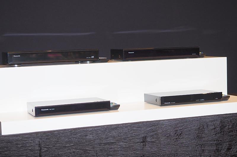 上段の2機種が従来モデル。下の新モデルは本体幅などを縮小