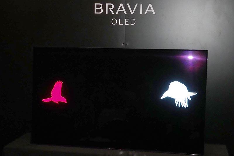 画面内を横切る鳥の映像に合わせて音も移動