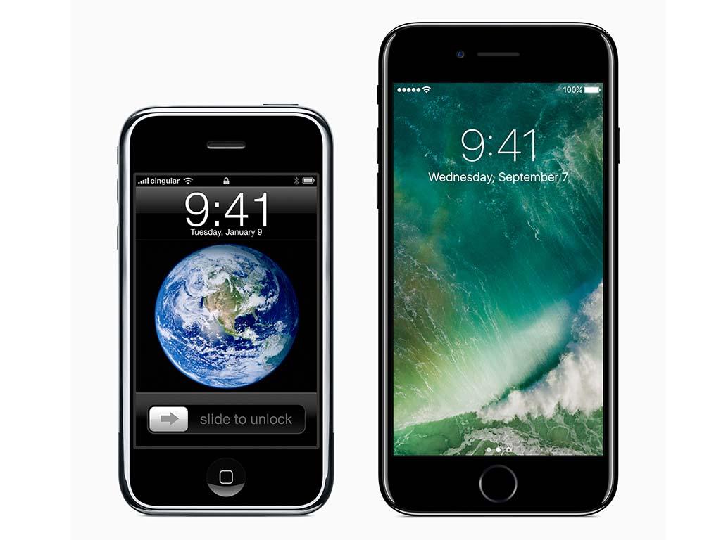 初代iPhoneとiPhone 7 Plus