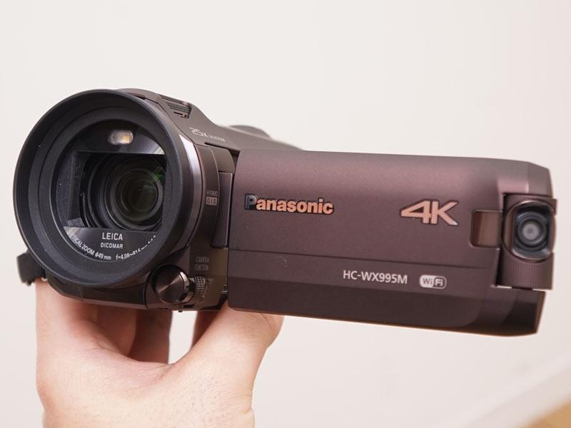 ワイプ撮りカメラを搭載して長時間バッテリが付属する「HC-WX995M」