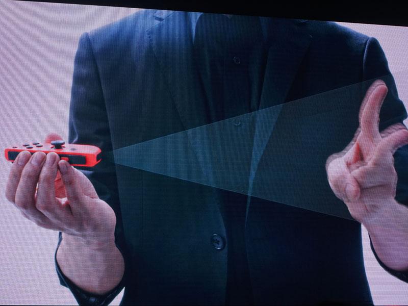 Joy-ConにはモーションIRカメラを搭載。形状や距離の認識ができる