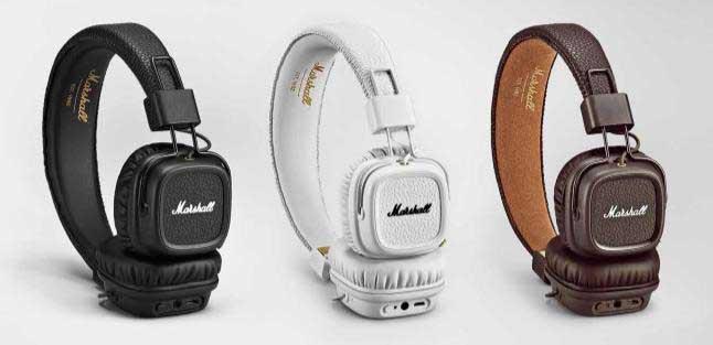 Marshall「MajorII Bluetooth」。カラーはBlack、Brown、Whiteの3色