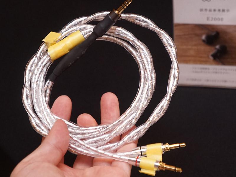 ヘッドフォン/イヤフォン用交換ケーブルも開発中。4.4mm 5極入力もラインナップ予定