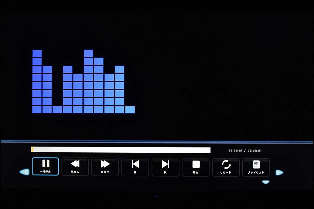 音声ビューワーでは、音像の変化に合わせてビジュアライザーが動く