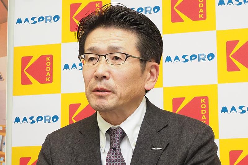 マスプロ電工の取締役 営業本部長 藤ヶ谷明夫氏