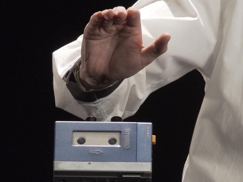 初代ウォークマンなどが、演奏できる音響機材へ変身
