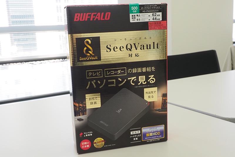 バッファローのSQV対応ポータブルUSB HDD