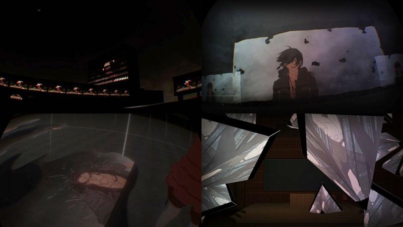 """「傷物語VR」のイメージ<BR><span class=""""fnt-70"""">(C)西尾維新/講談社・アニプレックス・シャフト</span>"""