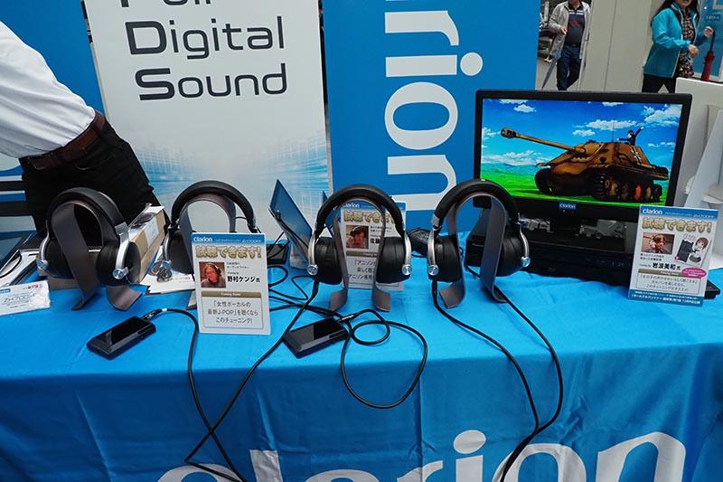フルデジタルヘッドフォンの試聴コーナー