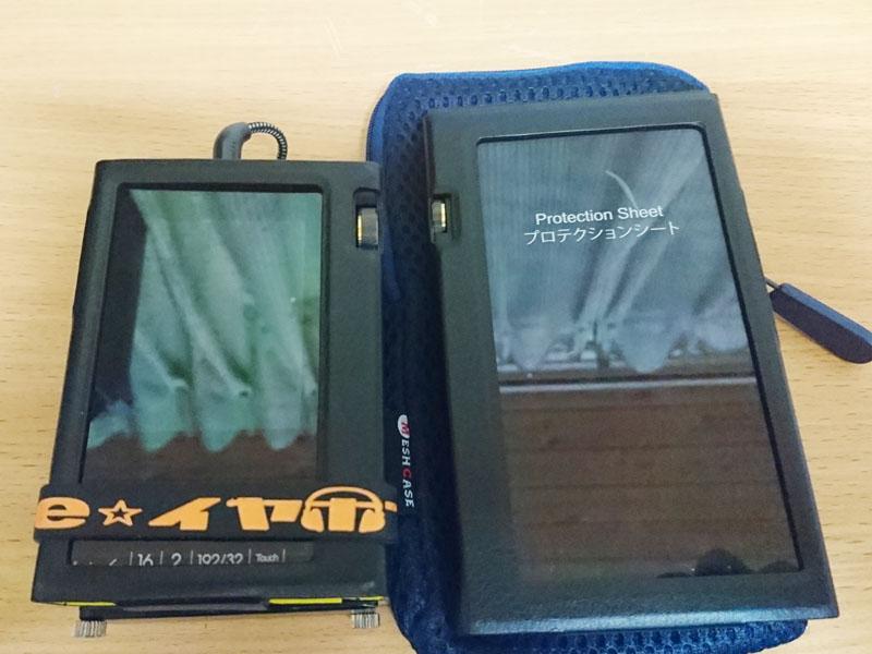 左がオンキヨー「DP-S1」+Ray Samuele Audio「SR-71A」、右がオンキヨー「DP-X1A」
