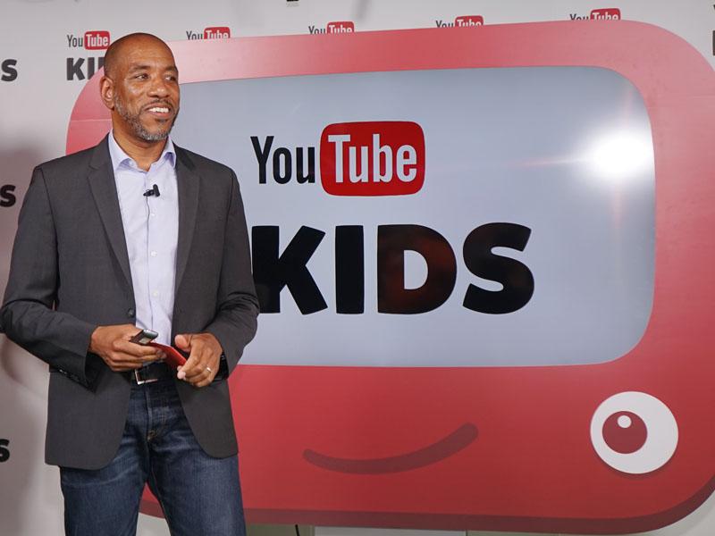 「YouTube Kids」を紹介するYouTubeグローバルFamily & Learningコンテンツディレクターのマリーク デュカード氏