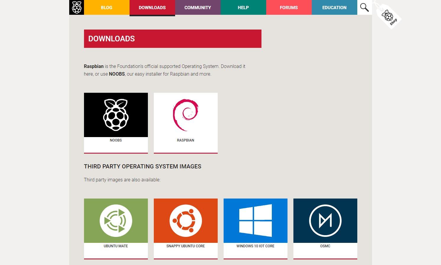 Raspberry Piのサイト