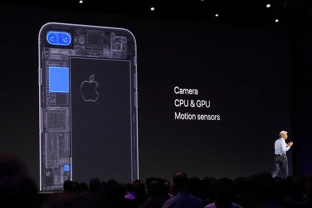 iOS機器に内蔵された「普通のデバイス」だけで、今日的な精度・機能を備えたARが活用可能に