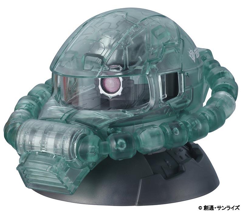 """劇場前売券の第3弾の特典「EXCEED MODEL ZAKU HEAD MS-06F量産型ザクII(クリアVer.)」<br><span class=""""fnt-70"""">(C)創通・サンライズ</span>"""
