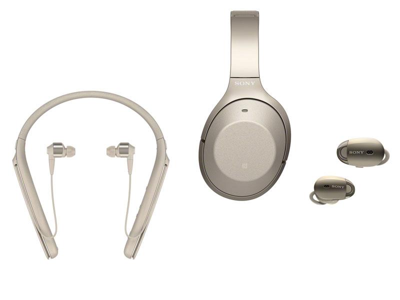 1000Xシリーズとして、ネックバンド型イヤフォンの「WI-1000X」(左)と、左右完全分離型イヤフォンの「WF-1000X」(右)も発表されている