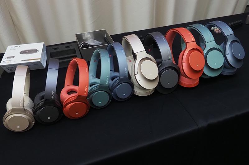 左の5モデルが「h.ear on 2 Mini Wireless」、右の5モデルが「h.ear on 2 Mini Wireless」