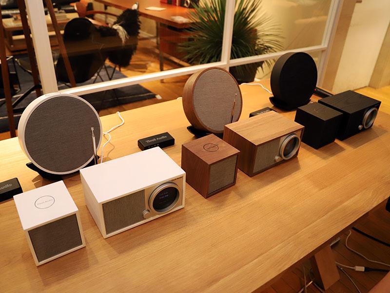 ネイビーズが扱うTivoli Audio製品。「CUBE」、「ORB」、「CONX」