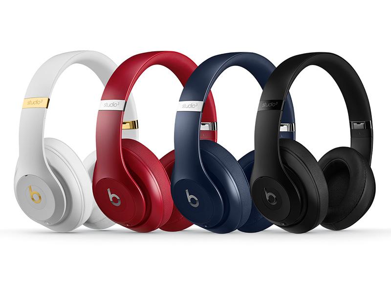 Beats Studio3 Wireless。左からホワイト、レッド、ブルー、マットブラック