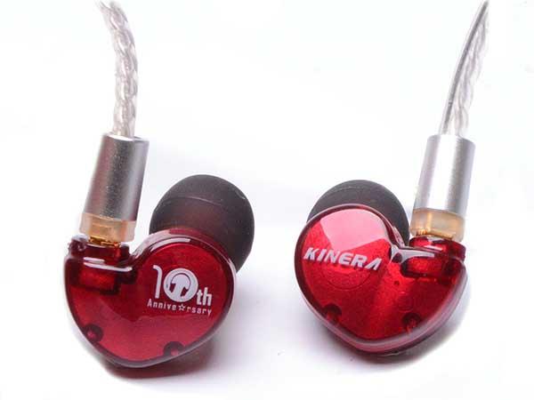 KINERA Bd005E Red e☆イヤホン10th anniversaryモデル