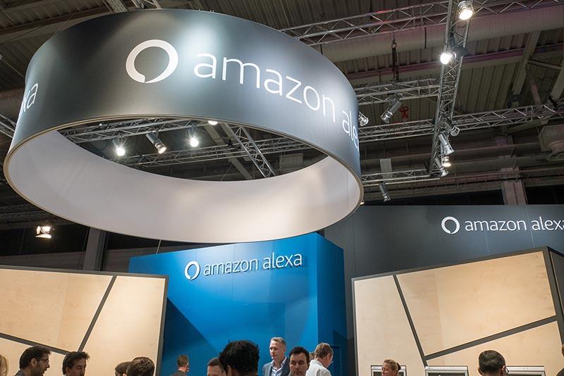 Amazon Alexa対応製品を集めたコーナー