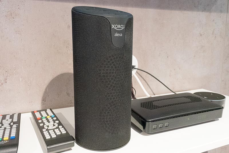 独MAS ElektronikのAlexa対応スマートスピーカー「XORO XVS 100」。Alexaに対応