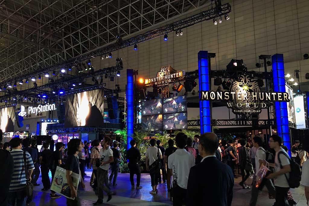 東京ゲームショウのSIEJAブース。今年はハードウエアプラットフォーマーとしては唯一の出展となった