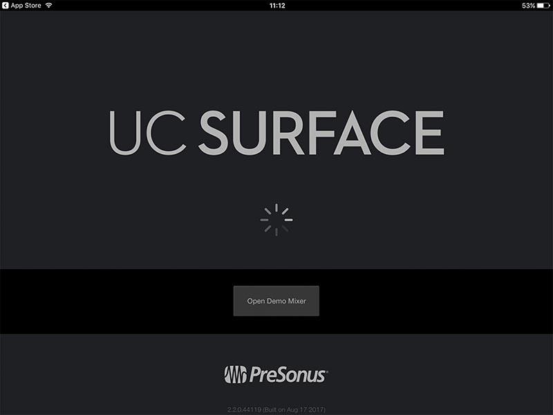 UC Surfaceアプリの画面