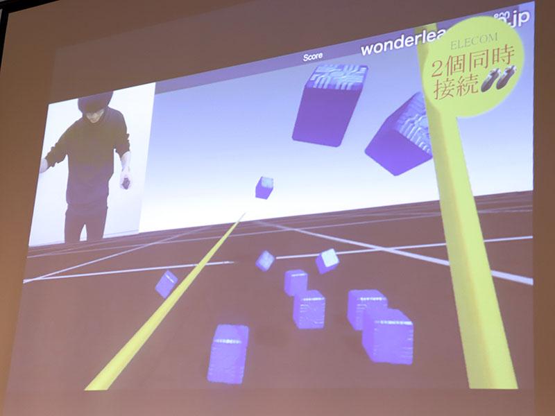 開発中のゲームでは、コントローラー2本の同時利用も可能とした