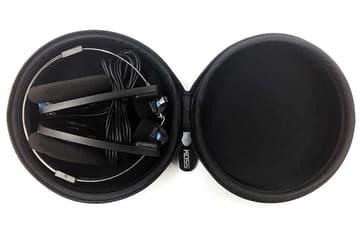 KOSS、PORTAPRO専用のヘッドフォンケース。実売1,500円 KOSS PORTAPRO HARD CASEにPORTAPROを収納したところ