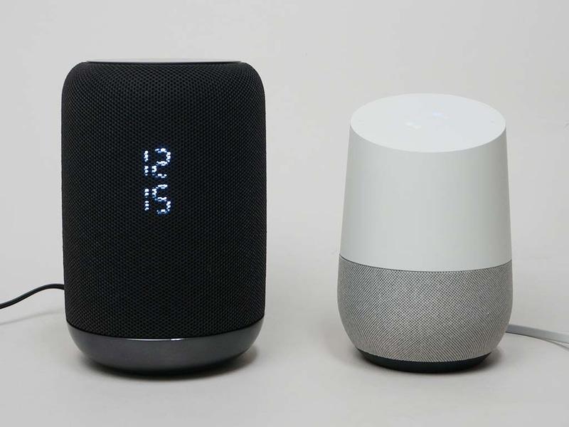 LF-S50G(左)とGoogle Home(右)