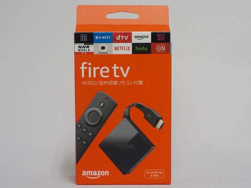 Fire TVのパッケージ