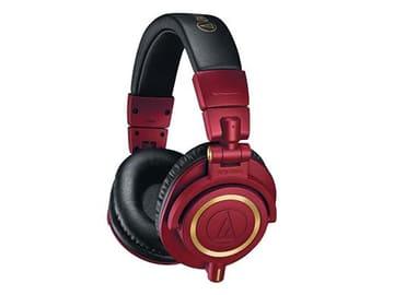 ワインレッドのモニターヘッドフォン「オーディオテクニカ ATH-M50xRD」 ATH-M50x
