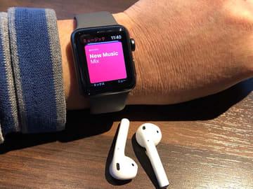 腕時計が4,000万曲の音楽プレーヤーに。Apple Watch Series 3の魅力 Apple Watch Series 3セルラーモデル。価格は45,800円から