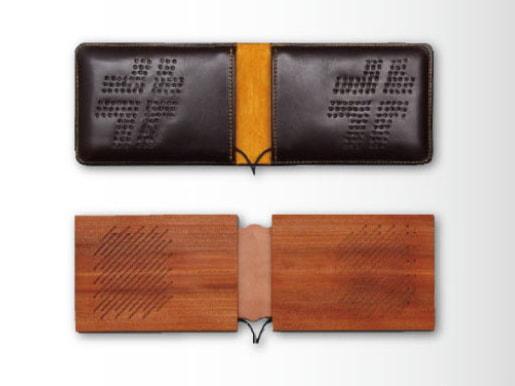 Bookspeaker-Wood(下)と、Bookspeaker-Leather(上)