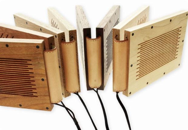 Bookspeaker-Woodは使用木材が異なる4種類