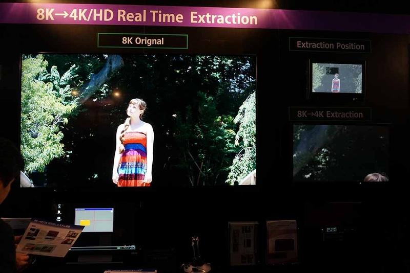 8K映像から4K/2K映像を切り出してスポーツ放送などで利用する