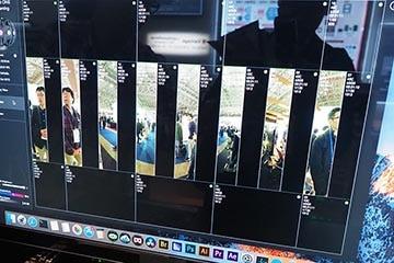 24個のカメラから360度8K映像を生成