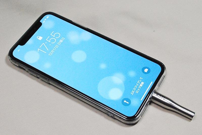 iPhone Xにi437Lを装着