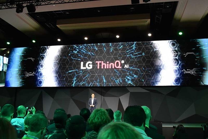 LGが自社製家電製品に展開するAIプラットフォーム名「LG ThinQ」