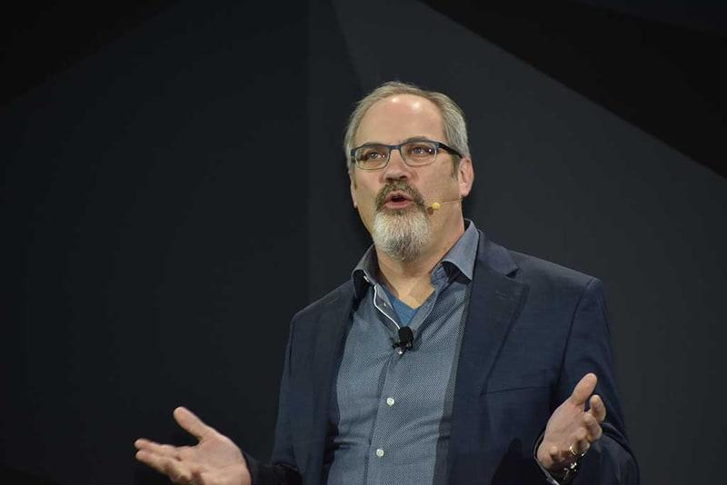 LGのDeepThinQの展開に際して、パートナーとして提携したGoogleからはGoogleアシスタントのGoogle社でVP of Engineeringを務めるScott Huffman氏が登壇してLG Electronicsとパートナーシップを結べたことへの賛辞を述べた