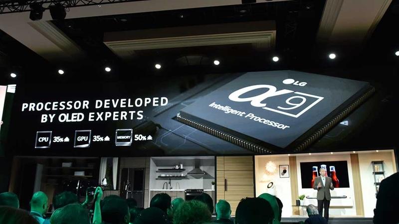 LGの新型映像処理プロセッサ「α9」は、特にLG式白色サブピクセル有機ELパネルの表示特性に最適化を極めた映像エンジンとのこと