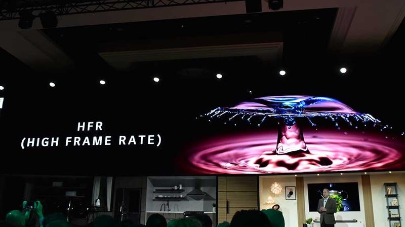 補間フレーム挿入による倍速化だけでなく、ネイティブ・ハイフレームレートコンテンツの表示にも対応