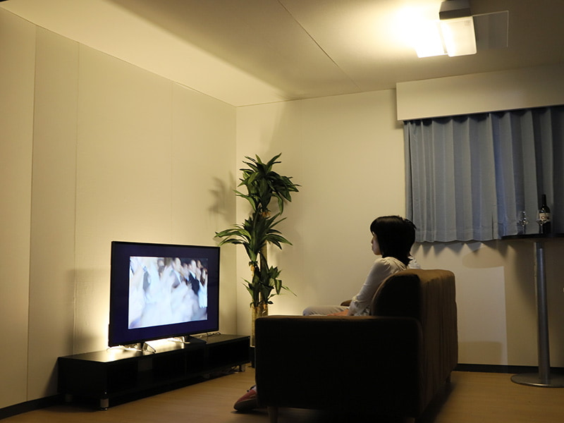 Bluetooth送信機同梱モデルは、テレビ音声をAIR PANEL LEDからワイヤレス再生可能