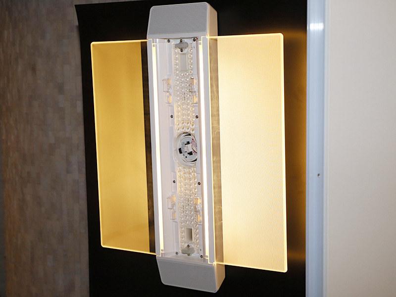 AIR PANEL LED THE SOUNDの照明部。中央にLEDを多数配置している