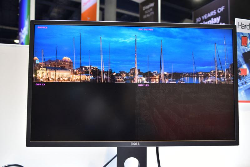 DSCによる映像劣化はどの程度のものかを示した画像。HDMIフォーラムが行ったブラインドテストでは99%の人が、DSCによる劣化を判別できなかったという