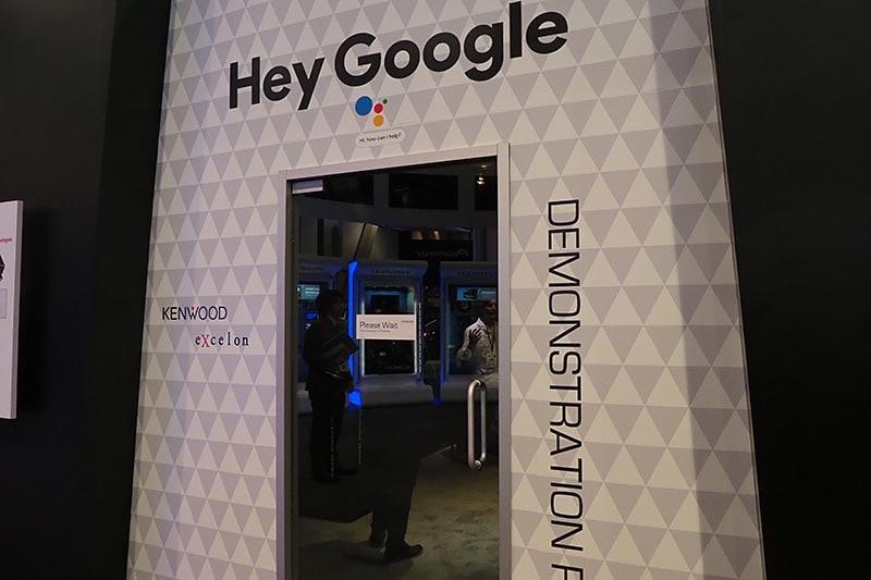 GoogleアシスタントやeXcelonの音質などを体験できるコーナーも