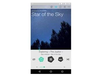 Android向けの音楽再生アプリ「Wireless Hi-Res Player ~Stellanova~」